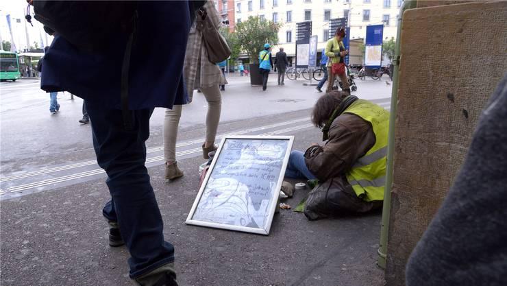 Szene in der reichen Schweiz: Hunderte von Menschen haben hierzulande kein Dach über dem Kopf. Archivbild: Nicole Nars-Zimmer