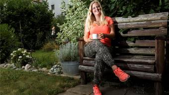 Nina Reinhard aus Lohn-Ammannsegg ist Solothurner Ehrendame beim Eidgenössischen Hornusserfest in Limpach.