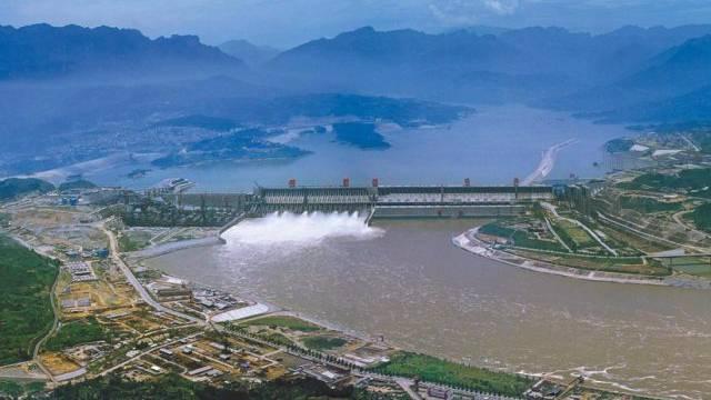 Luftaufnahme des Drei-Schluchten-Damms (Archiv)