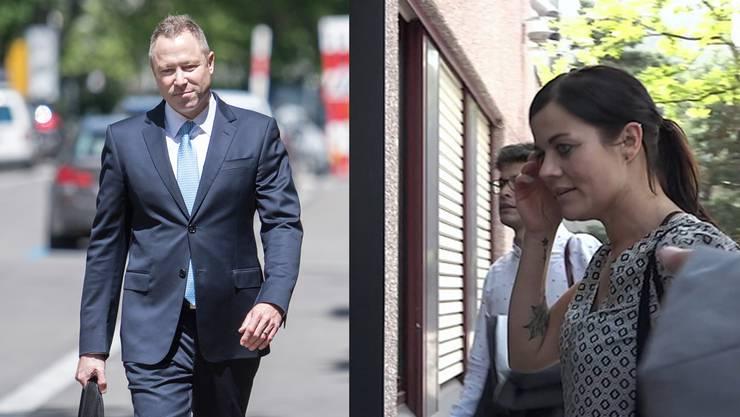 """Wegen übler Nachrede an Jolanda Spiess-Hegglin (r.) verurteilt: """"Weltwoche""""-Journalist Philipp Gut (l.)"""