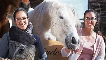 Ab heute im Fernsehen: Janina und Stefanie Sutter gemeinsam mit Pferd Meyki.