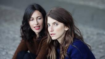 Arroganz ist nicht ihre Art: Die Boy-Musikerinnen Sonja Glass (links) und Valeska Steiner sind noch immer dankbar für ihren Erfolg. (Pressebild)