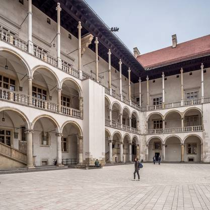 Das Schloss Wawel gehört wie die Altstadt zum Weltkulturerbe.