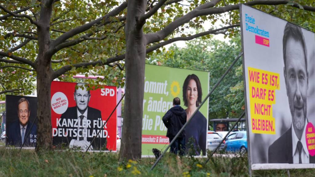 Sie standen zur Wahl: Nun verhandeln Armin Laschet, Olaf Scholz, Annalena Baerbock und Christian Lindner darüber, wer die bessere Koalition bildet.