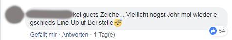 Konstruktiv ist dieses Feedback ja nicht gerade. (Screenshot: Facebook/OpenAir St. Gallen)
