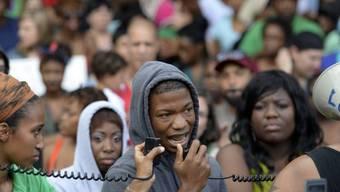 Menschen protestieren in Atlanta, Georgia, gegen das Urteil