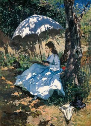 Frank Buchser spielt «Im Sonnenschein» von 1862 mit dem Schatten.