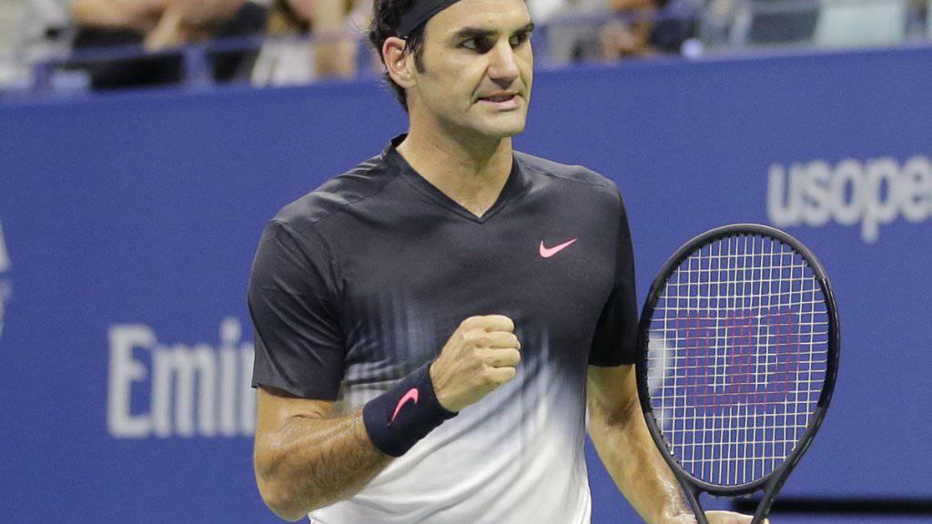 Roger Federer blieb in der 3. Runde ungefährdet.