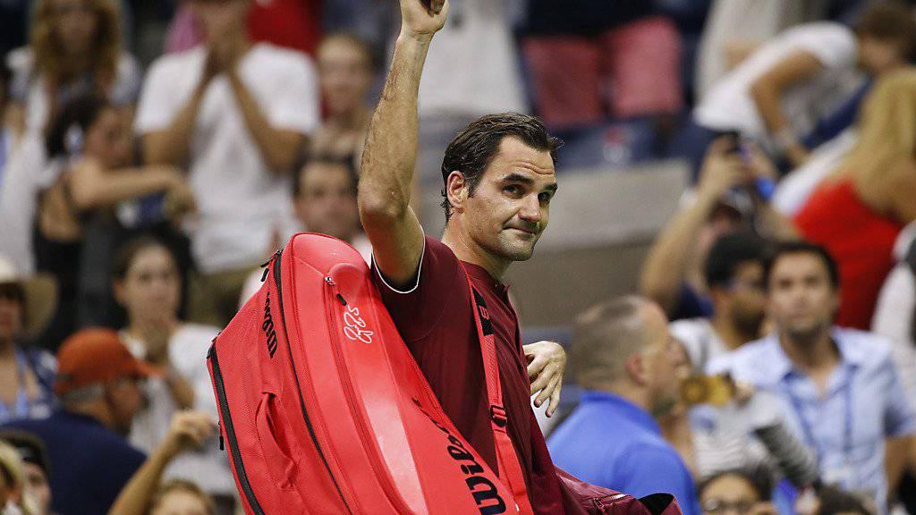 Roger Federer muss sich überraschend früh vom New Yorker Publikum verabschieden