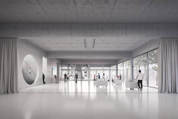 Blick in das geplante Foyer.
