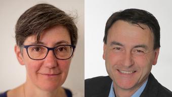 Linda Walter-Naef und Beat Späti kandidieren beide für die Gemeindepräsidentenwahl.