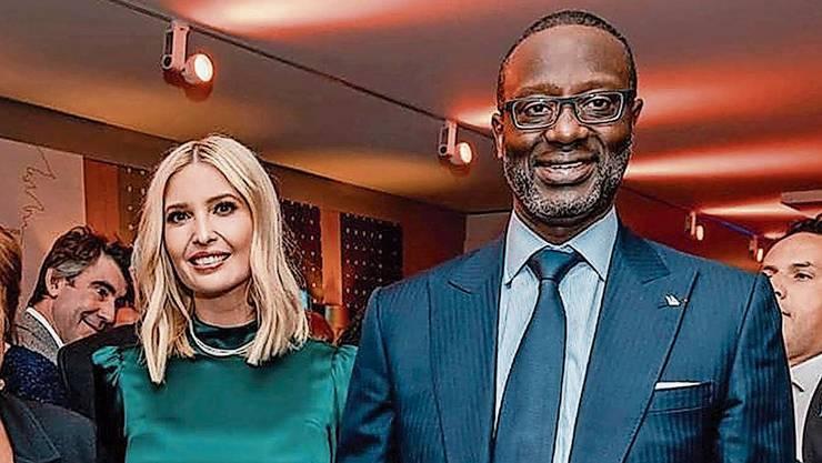 Im internationalen Umfeld fühlt sich Tidjane Thiam wohl. Hier mit Ivanka Trump, der Tochter des US-Präsidenten, am WEF in Davos.