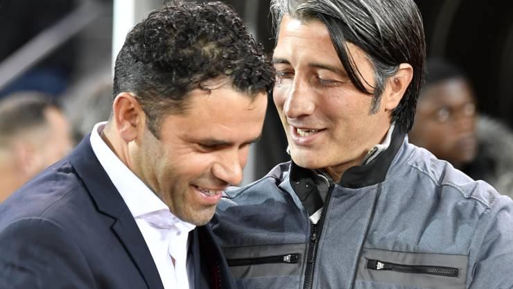 Uli Forte und Murat Yakin werden sich im Cup-Halbfinal zwischen dem FCZ und GC wieder gegenüberstehen