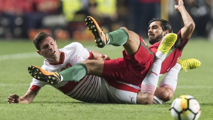 Die Schweiz war chancenlos und verliert gegen Portugal 0:2.