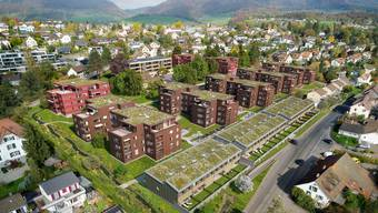 Visualisierung des Projekts Baumgarten in Küttigen (Überbauung ehemaliges Baumschulareal Hauenstein).