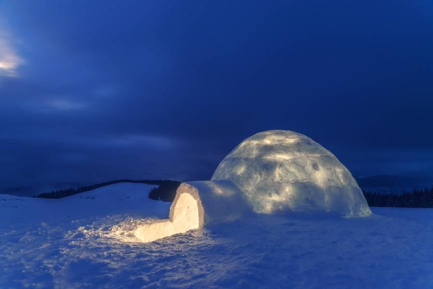 Auf der Ebenalp kannst du am Samstagabend in einem Iglu übernachten. (Symbolbild: iStock)