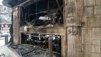 Spuren der Zerstörung in Damaskus (Archiv)