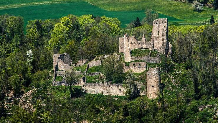 Die Burgruine Schenkenberg in Thalheim ist ein beliebtes Ausflugsziel im Aargau. Auch dort kann man ein Würstchen über Feuer halten.