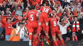 Die Reds zelebrieren das frühe 1:0 gegen Tottenham