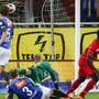 FCA-Keeper Simon Enzler war bei den fünf Gegentreffer machtlos.