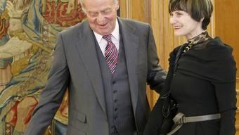 Spaniens König Juan Carlos und Bundesrätin Micheline Calmy-Rey