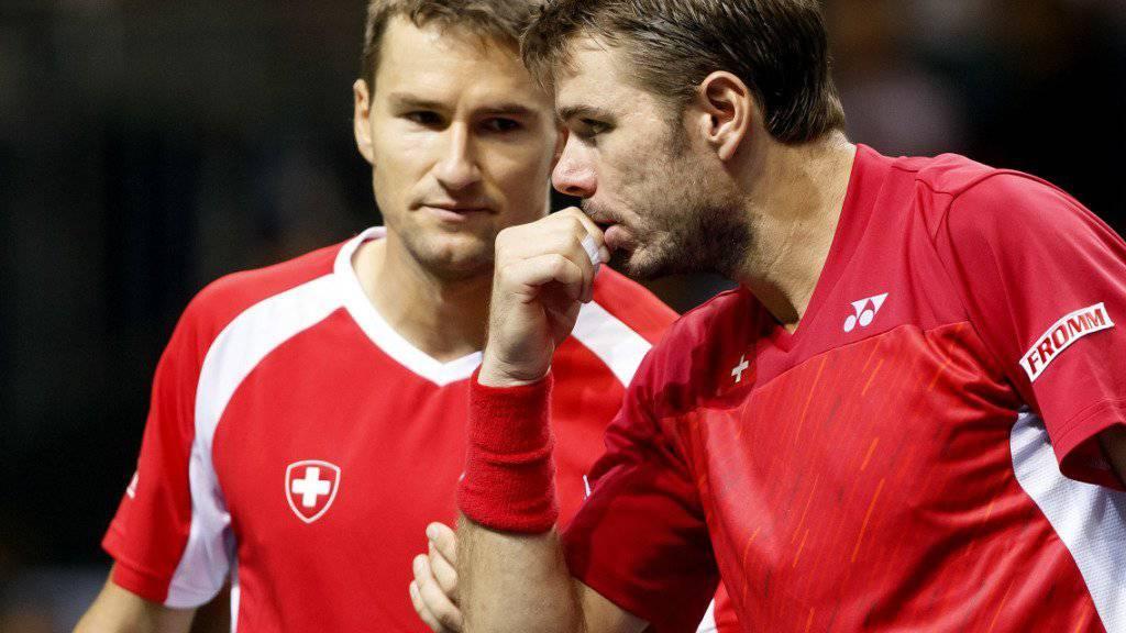 Spielten einst zusammen im Schweizer Davis-Cup-Team: Marco Chiudinelli und Stan Wawrinka