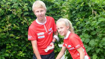 Timo (l.) und Siri Suter aus Rütihof zeigten in Rumänien gute Leistungen.