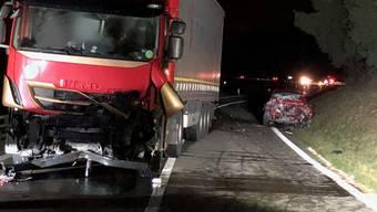 Tödlicher Unfall bei Lenzburg (mit Polizeibildern)