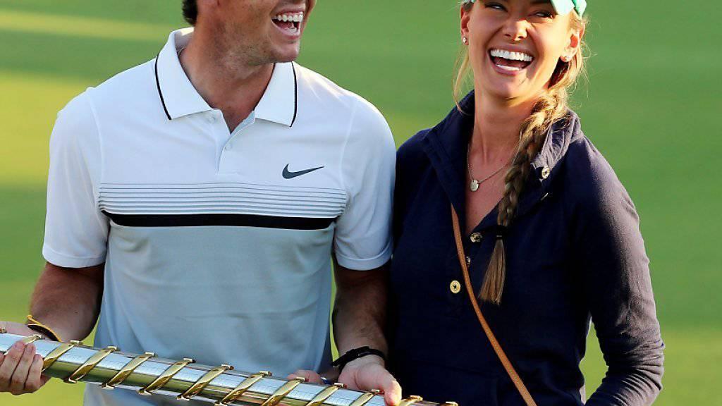 Das glücklichste Paar: Rory McIlroy und Erica Stoll
