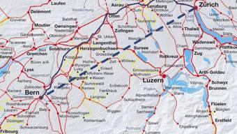 Bern-Zürich: Tempi von 300 km/h dank direkter Strecke (zvg)
