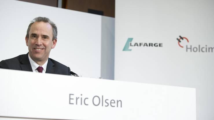 Die Zahlen trübten die Stimmung beim Chef des neuen, fusionierten Zementkonzerns Eric Olsen jedoch nicht. (Archiv)