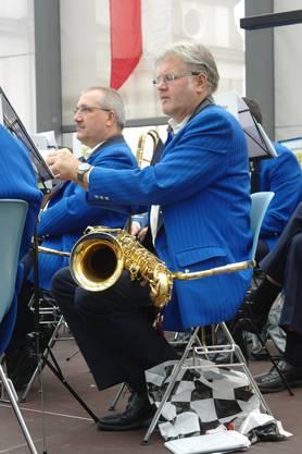 Kleine Verschnaufpause für die Stadtmusiker.