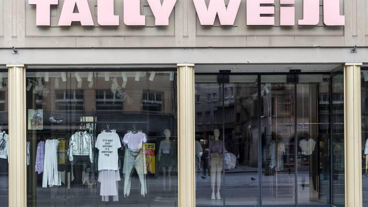 Wegen der Coronapandemie ist diese Filiale von Tally Weijl in Basel zurzeit geschlossen.