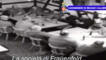 Mitglieder der Frauenfelder Mafia-Zelle in einem Polizeivideo von 2014. (Archiv)