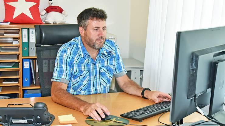 Die letzten 10 Jahre verbrachte Daniel Cartier auch im Hochsommer viel Zeit in seinem Büro im Gemeindehaus in Gretzenbach.