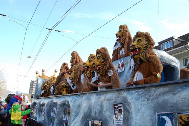 Feierten sich als Lion Kings of Baselland: die Rynacher Waldgeischter