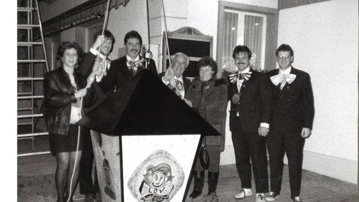 1994: Erster Lampenaufzug beim Restaurant Rössli