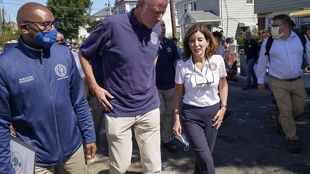 Bürgermeister New Yorks: Unwetter «grösster Weckruf» – neun Tote