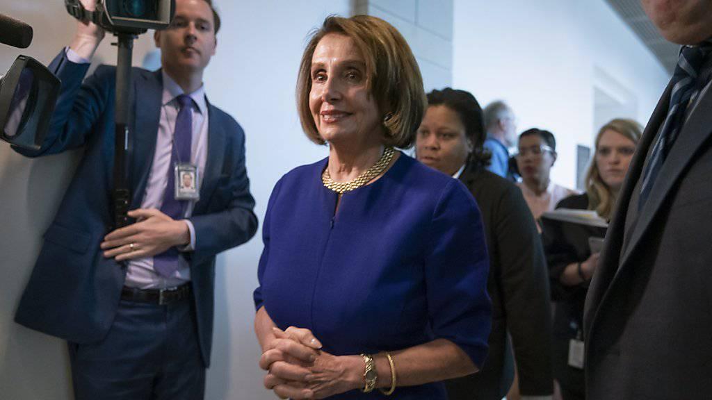 Nancy Pelosi am Mittwoch nach dem geplatzten Treffen mit Donald Trump - der Präsident mache sich womöglich eines Vergehens schuldig, das ein Amtsenthebungsverfahren rechtfertigen könnte, sagte sie.
