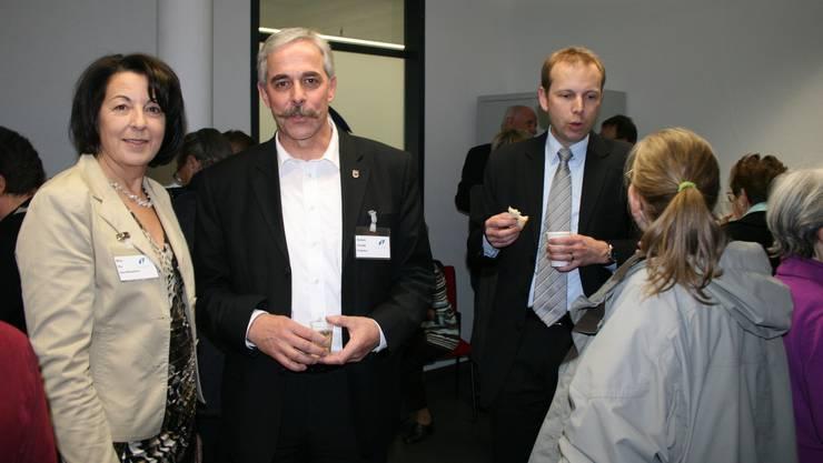 Mit dem Umzug zufrieden: v.l. Geschäftsleiterin Pia Baur, Vereinspräsident Claude Dubois und Stadtrat Michael Ganz. Kel