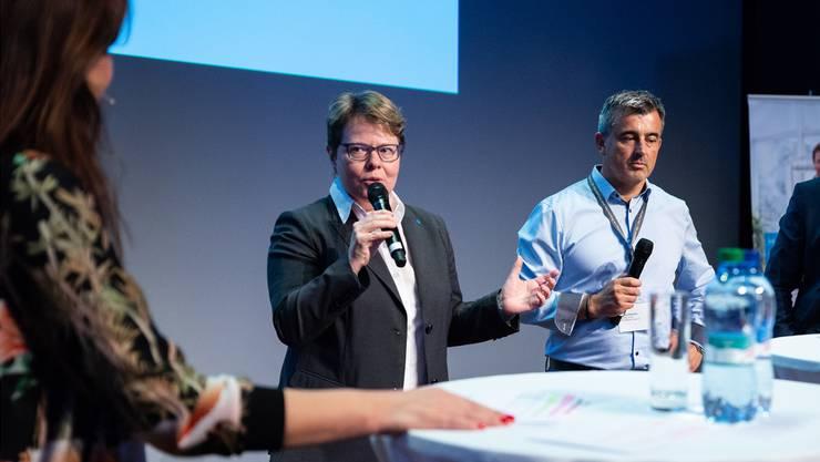 CEO-Talk: Marianne Wildi (Hypothekarbank Lenzburg), Stefan Schimon (Antrimon Group) und Marco Born (Solvias AG).