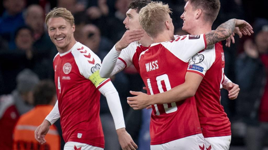 Geschafft: Das kleine Dänemark hat sich - bisher ohne Gegentor - als zweite Mannschaft nach Deutschland für die WM 2022 in Katar qualifiziert