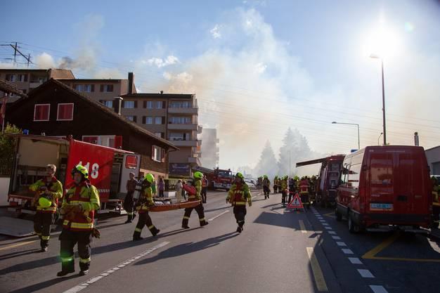 Die Feuerwehr musste 45 Personen evakuieren.