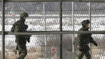 Patrouille an der südkoreanischen Grenze