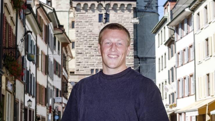 Emil Bergström vor dem Spalentor: «Ich wollte etwas Neues und Basel ist ein guter Karriereschritt.»