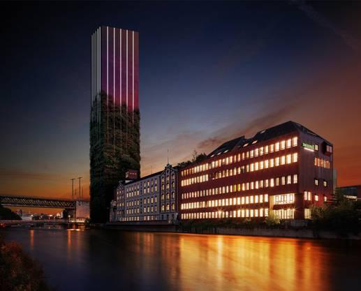 Gestaltungsvorschlag von Studio Forma Architects in der Nacht. zvg