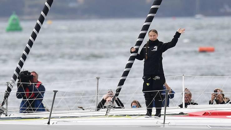 Thunberg war auf einem Segelschiff über den Atlantik mitgefahren, weil sie als Zeichen für mehr Klimaschutz nicht fliegen wollte.