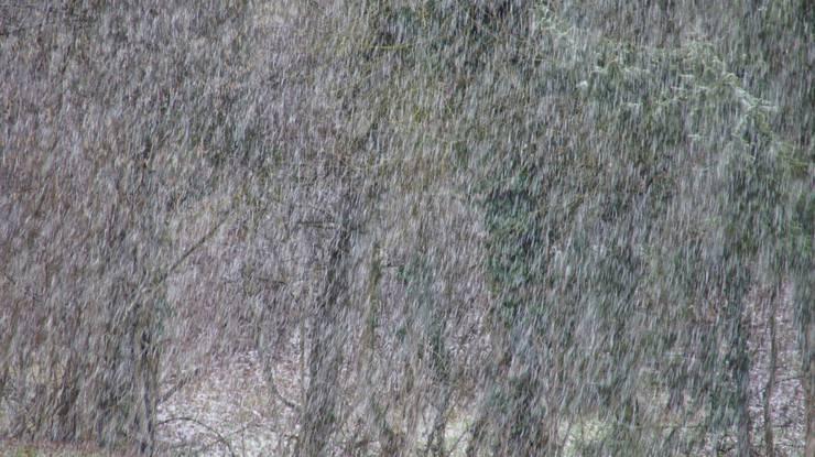 In mehreren Regionen des Kantons graupelte es heftig.