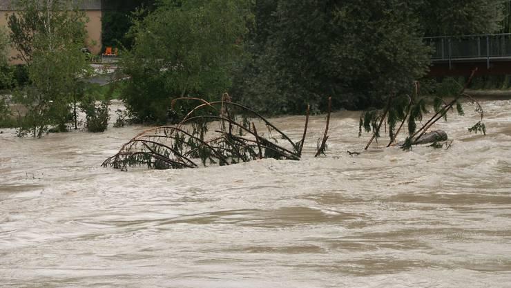 Jahrhunderthochwasser an der Reuss im Jahr 2005. Solche Bilder soll es im Aargau nicht mehr geben.