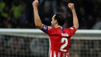 Atléticos Captain und Abwehrchef Diego Godin schiesst sein Team in der Nachspielzeit zum Sieg - trotz Muskelverletzung